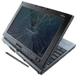 ноутбук с разбитым (расколотым) экраном